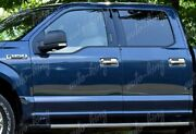 4pc Chrome Door Handle Cover Covers Cap W/smart Key Hole Fit 2015-2020 Ford F150