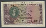 South African 10 Pounds 10-8-1955 P99s Specimen Uncirculated
