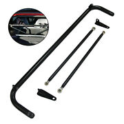 49 Racing Safety Seat Belt Roll Harness Bar Stainless Steel Kit Rod R+l