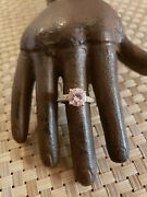 Vintage Sterling Silver Ring 2.5 Ct Pink Main Stone Anniversary 925 Sz 6