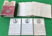 Old Antique 1806 French Jouy Geography Card Game Jeu De Cartes Geographiques