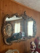 Large Vintage Victorian Style Oval Mirror