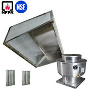 4and039 Ft Restaurant Commercial Kitchen Low Ceiling Slope Front Hood Captiveaire Fan