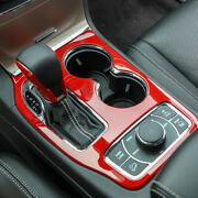 Red Car Console Gear Shift Panel Cover Trim For Jeep Grand Cherokee 2016-2020