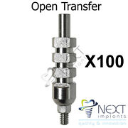 Lot X 100 Open Tray Dental Implant Abutment Transfer Impression Coping Long