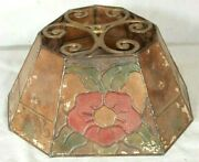 Antique Arts And Crafts Mission Painted Mica Lamp Shade