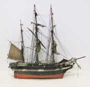 Late 19th Century Model Of French Barque The Johanna From Harding Museum