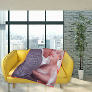 Custom Photo Fleece Blanket Picture Personalized Throw Gifts For Girlfriend Wife