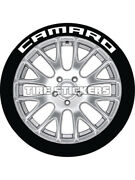 4 X Tyre Stickers Permanent Raised Green Letters Camaro 1 For 19-21 Wheels