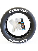8 X Tyre Stickers Permanent Raised Red Letters Cooper 1.25 For 19-21 Wheels