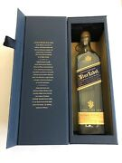 Johnnie Walker Blue Label Bottle And Box Collectible Jonnie Johnny, No Alcohol