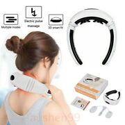 Electric Back Neck Massager Magnetic Meridian Acupuncture Therapy Vertebra Relax