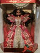 1997 Error Happy Holiday Barbie Doll Mistake Factory Green Eyes Free Ornament