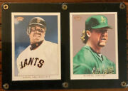 Tops 206 Baseball Cards Bonds, San Franciscoand Mcguire Oakland. In Protected Ca