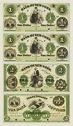New York Ny- Bank Of New York 1-1-2-3 1800andrsquos Uncut Proof Sheet Reproduction