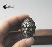 Handmade Silver Ring The Monkey King Sun Wukong Mens Brass Vintage Ring Gifts