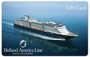 Holland America Gift Card - 50 100 Or 200 - Email Delivery