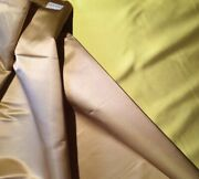Donghia Abracadabra Silk Shantung Champagne Chartreuse Woven India New 12 Yards