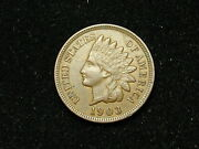 Must Go Sale Au 1903 Indian Head Cent Penny W/ Full Liberty And Diamonds 165h