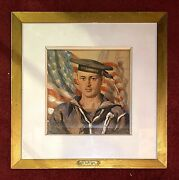 G. Stupendahl Watercolor Uss Maine Sailor Lest We Forget Span-am 1898 Truth Mag