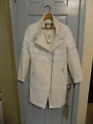New Chicos Quilted Textured Outerwear Antique White Jacket Coat Sz 0 Lovely 249