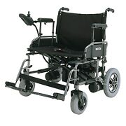 Folding Heavy Duty Power Wheelchair 22 Wide Seat 450 Lb Weight Capacity