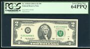 Fr. 1938-d 2003-a 2 Fw Frn Federal Reserve Note Cleveland Oh Pcgs Unc-64ppq
