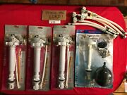 9 Parts Toilet Tank Repair Anti-siphon Fill Valve, Plastic,supply Lines Carded