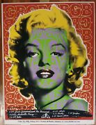 Marilyn Monroe Cbgb And03905 Silkscreen Billy Bishop Obsolete Industries Litho 86/125