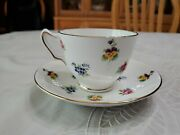 Royal Victoria Fine Bone China Tea Cup And Saucer Floral Design Guc