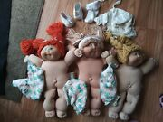 Cabbage Patch Kids Vintage 1978 1982 With Unused X2 Diapers And Accessories