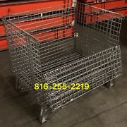 Used Wire Basket Storage And Shipping Containers
