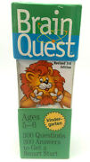 Brain Quest Revised 3rd Edition 300 Questions/answers Kindergarten Ages 5-6 New