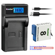 Kastar Battery Usb Lcd Charger For Gopro Ahdbt-801 Hero 8 And Gopro Hero8 Black