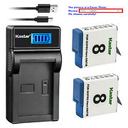 Kastar Battery Usb Lcd Charger For Gopro Ahdbt-801 Gopro8 Gopro Hero 8 Hd Black