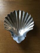 Antique Solid Silver Butter Shell London 1754