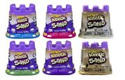 Set Of 6 4.5 Oz Kinetic Sand Purple Pink Green White Tan And Blue