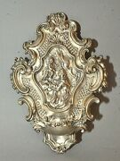 18th C. Silver Repousse Holy Water Font Genoa Torretta Hallmark St Anthony Padua