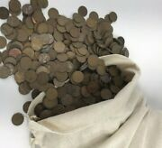 1000 Wheat Penny Cents Wholesale Lot 1940-1958 Pds 7 Lbs Us Copper Coins