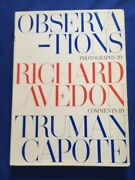 Observations - First American Edition By Richard Avedon And Truman Capote
