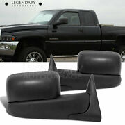Towing Power Side View Mirrors Heated Pair 98-01 Dodge Ram 1500 98-02 2500 3500