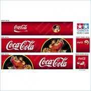 Coca-cola Tamiya 14th Scale 56302 Truck Reefer Box Trailer Roof Decals Stickers