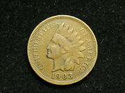 2021 Collectibles Sale 1903 Indian Head Cent Penny W/ Partial Liberty 75i