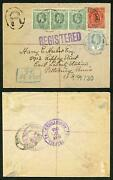 Cayman Is 1913 1d Stationary Uprated With 3 X 1/2d And 2d Rare Ex Maisel