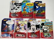 Hot Wheels Disney 2018 Mickey Mouse Exclusive Series Bundle- Set Of 7 Cars