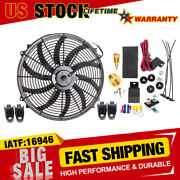 16 Electric Radiator Fan High 3000+ Cfm Thermostat Wiring Switch Relay Kits Top