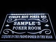 Personalized Poker Sign Game Room Lighted Plaque
