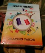 Learn French While Playing Cards - 52 Most Useful French Phrases - 2 Decks