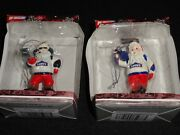 Jimmie Johnson Santa Claus Crew Chief And Gas Man Collectible Ornaments