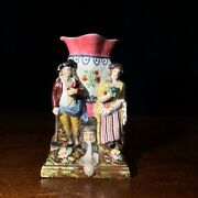 Early Staffordshire Pottery Figural Spill Vase, Gardiner And Companion, C.1800